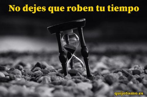 ladrones de tiempo - reloj de arena